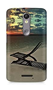 Amez designer printed 3d premium high quality back case cover for Motorola Moto X Force (Evening chill)