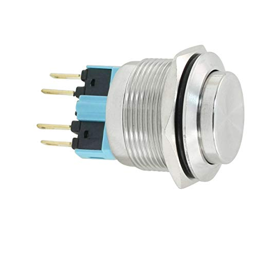 Aexit 3 A AC 250 V 3P NO NC 22 mm Momentary Circuit Control Push Button Switch -