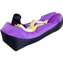 Lvguang Sofa Hinchable Tumbona Hinchable Portátil Impermeable Ligero Aire Sofá Inflable Ocioso Aire Cama Tumbona de