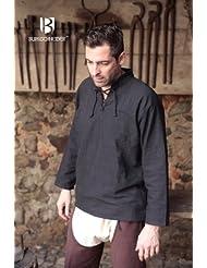 Chemise médiévale coton haute qualité noir