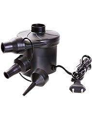 Pompe Electrique, GOCHANGE 230V Gonfleur / Dégonfleur pour Matelas avec 3 Accessoires pour Voiture, Camping Gonflable, Lit, Bateaux Gonflables, Meubles