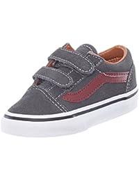 Zapatos Primera Infancia Vans Old Skool V Ante-Gris-Madder Marron 265bf80178f