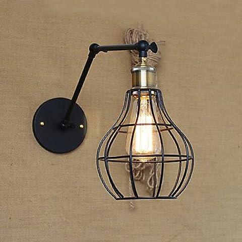 SQL Pared lámparas/lámpara/lámpara columpio miniatura metal rústico/lodge