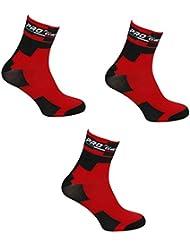 Kit - Combo 3 pares de calcetines para ciclismo Proline Team BMC - Talla única 39/46