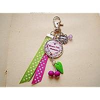porte clés femme, cerises pour maman, cadeau fête des mères, cabochon 4209a9ef9c3