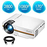Projector, ELEPHAS 3200 Lux LED Video Projector, Updated LCD Technology Support 1080P Portable