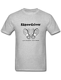 Men's Skrewdriver Boots & Braces Logo T-Shirt S ColorName Short Sleeve XXXX-L