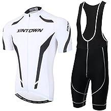 YOUJIA Hombres Jersey Maillots de Bicicleta Conjunto de Ropa Pantalones Cortos Cómodo Respirable Secado rápido