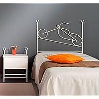 Preisvergleich für MuebleTienda Betts aus Schmiedeeisen Mod. Moto (105Zentimeter, blau)