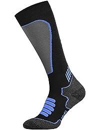 Tobeni Sport Medias de Compresión Ciclismo- Correr- Esquí- Calcetines para Mujer y Hombre Color Negro-Royal-Azul Tamaño 39-42