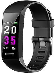 Feob Montre connectée Cardio Bracelet Connecté Femme Homme Sport Pédomètre Sommeil Smartwatch Tension Artériel Tracker D'activité GPS Montre Running pour iPhone Huawei Samsung Xiaomi Sony