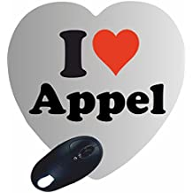 """EXCLUSIVO: Corazón Tapete de ratón """"I Love Appel"""" , una gran idea para un regalo para sus socios, colegas y muchos más!- regalo de Pascua, Pascua, ratón, Palmrest, antideslizante, juegos de jugador, cojín, Windows, Mac OS, Linux, ordenador, portátil, PC, oficina, tableta, Amo, Made in Germany."""