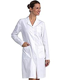 Fratelliditalia Camice Bianco Donna da Laboratorio Medico Lavoro in Misto  Cotone Made in Italy in Tessuto 9667e82f3f38
