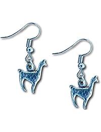 Llama Alpaca Silver Charm Figurine Earrings by Farralone