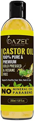 Dazel - The Skin Pulse® Castor Oil 100% Pure & Natural Cold Pressed Castor Oil For Hair Growth | For Moist