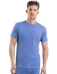 Value 6 Pack Mens Thermal Underwear Short Sleeve Vest Interlock Various Colours & Sizes, PLUS Tie, Handkerchief & Cufflink Set.