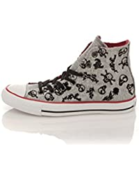 9ba643a4311b7 Converse Sportschuhen Chuck Taylor Skull Print Canvas OxNoir Gris Blanc All  Star · Converse Sneaker Print grau schwarz EU 41.5
