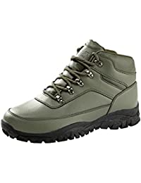 193e99649bae Cotton Traders Unisex Womens Ladies Mens Leather Waterproof Hiking Boots  Shoes E Fit