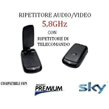 TRASMETTITORE RIPETITORE RICEVITORE DI SEGNALE AUDIO VIDEO AV SENDER 5,8GHz