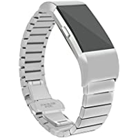 Fitbit Charger 2 Band, Degbit Fitbit Charge 2 Wristband Metal Band, Adjustable Stainless Steel Fitbit Charge 2 Watch Band Strap, Classic Replacement Accessories for Charge 2 Strap Bracelet Bands