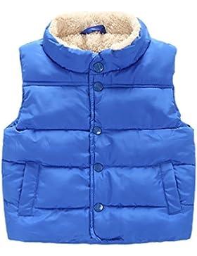 YOUJIA Gilet Infantile Bambino Caldo Spessa Imbottitura Capispalla Cappotti e giacche della Peluche Senza Maniche