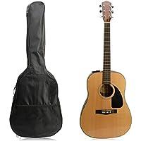 Funda de guitarra acústica de 104 cm, nailon impermeable, color negro