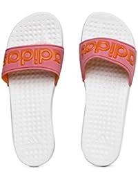 sports shoes 23459 828b5 adidas Frauen Pink  White Carodas Slide Flip Flops