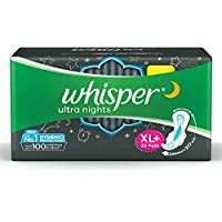 Whisper Ultra Overnight Sanitary Pads with Wings XL Plus 30 Units
