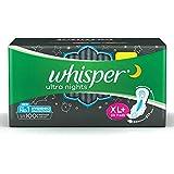 Whisper Ultra Night Sanitary Pads for Women, XL+ 30 Napkins
