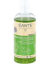 SANTE Naturkosmetik Family Kids Shampoo & Duschgel Entdecker, Speziell für Kinder, Pflegt die Haut, Reinigt sanft, Vegan, 2x200ml Doppelpack