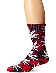 HUF - Tie Dye Plantlife Crew Sock - Red/Blue