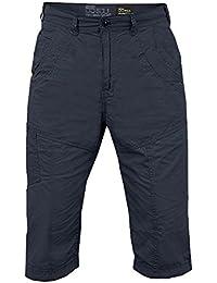 Short Chino pour homme 55 Soul Don New Look coton décontracté Demi Pantalon Cargo Pant 3/4 de longueur