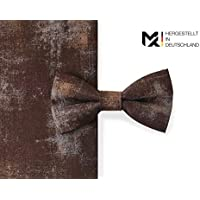 MAY-TIE Herren Fliege | Rusty- Braun | 100% Baumwolle | Style | gebunden und stufenlos verstellbar mit Hakenverschluss | hergestellt in Deutschland