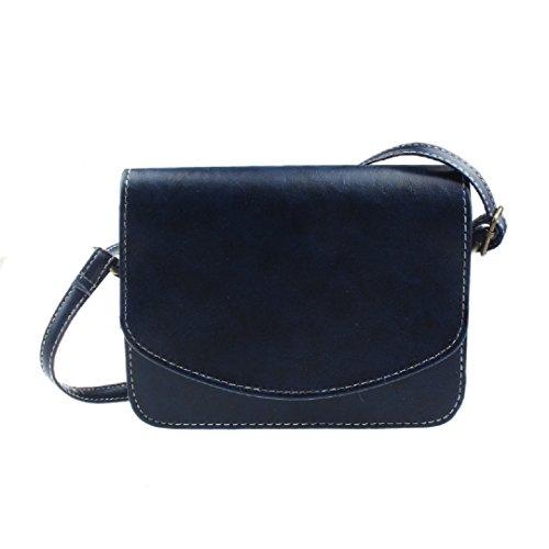Retro Ularmo Blau Süß PU Handtasche Sehr Umhängetasche Damentasche Henkeltasche Ledertasche Praktisch Klein dxPFdv