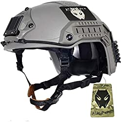 Atairsoft réglable maritime casque ABS FG feuillage vert pour airsoft Paintball, taille : L/XL