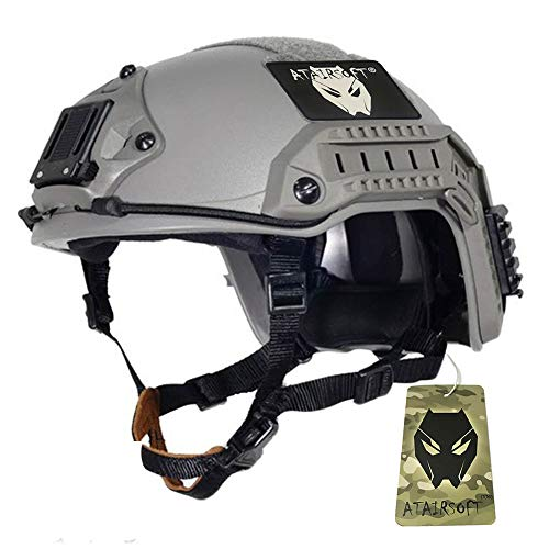 Atairsoft réglable maritime casque ABS FG feuillage vert pour airsoft Paintball, taille: L/XL