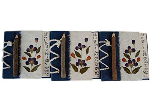 rubrica-telefonica-petalo-blu-realizzata-a-mano-confezione-da-3-10cm-x-10cm