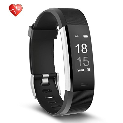 Semaco S01Plus Fitness Tracker, Heart Rate Monitor Wireless Smart Bracelet Waterproof Activity Tracker with Pedometer Sleep Monitor Bluetooth Smartwatch for Android and iOS Smartphones