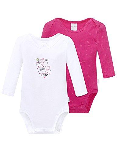 Schiesser Baby-Mädchen Body 2pack Bodies 1/1, 2er Pack, Mehrfarbig (Sortiert 1 901), 86 (Herstellergröße: 086)
