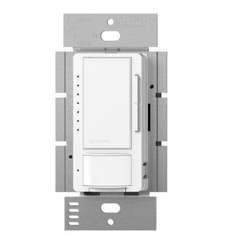 Lutron MSCL-VP153M-SW Maestro CL Single Pole Multi Location Vacancy Sensing Dimmer, Snow by Lutron -