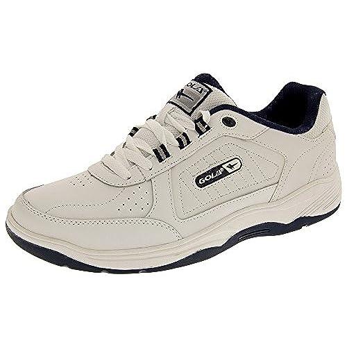 Gola AMA203 Belmont Lace Up Wide Fit Mens Shoes  White/Navy  UK 10  EU  44  US 11