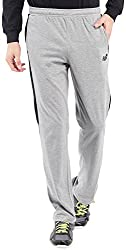 2go Active Gear USA Mens Track Pants (EC-JP-02Greymel/BlackS)