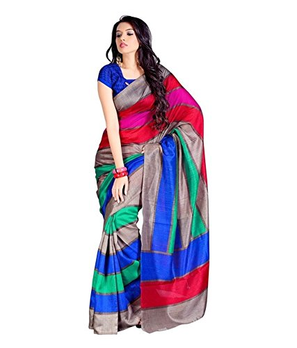 Ambe Saree Blended Saree With Blouse Piece (Ofs_238_Multicolor_Free Size)