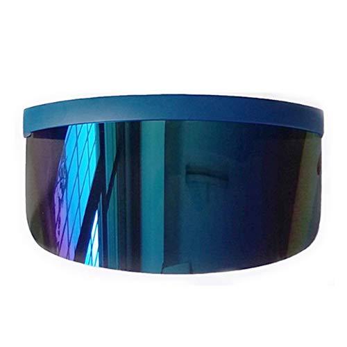 YOGER Sonnenbrillen Sonnenbrillen Damenmode Flat Top Oversize Shield Visier Sonnenbrille Männer Winddicht Brille Uv400