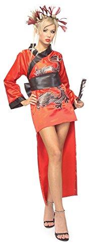 Damenkostüm Karneval Verkleidung Damen (Drachen Geisha Kostüme)
