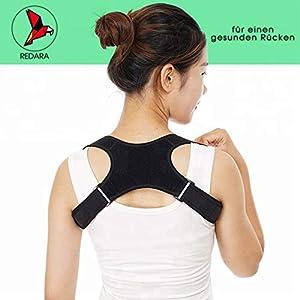 REDARA Haltungstrainer für einen gesunden und geraden Rücken, der Geradehalter oder Haltungskorrektur für eine aufrechte Haltung, Rückenstabilisator, Schultergurt für Damen und Herren