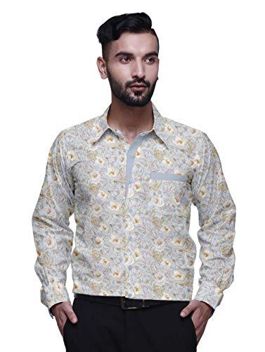 BESTMAN lässig Bedruckte Hemden für Männer Slim Fit Langarmhemd mit Knöpfen -
