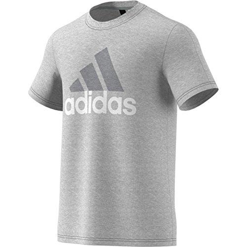 Adidas Essential Linear T-Shirt mid grey heather