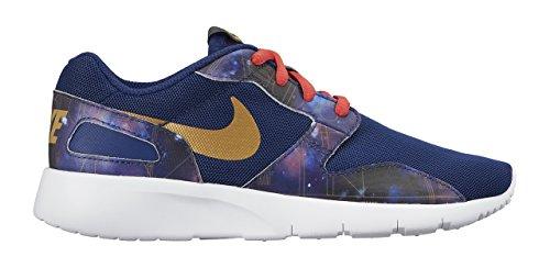 Nike Kaishi Print (GS), Baskets Basses Mixte Enfant, 16 EU Azul / Dorado (Insgn Bl / Mtllc Gld-Embr Glw-Wh)