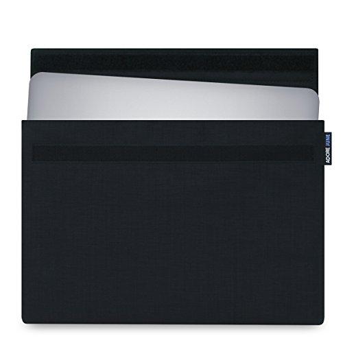 Adore June 15,6 Zoll Hülle Classic Schwarz für Dell XPS 15 Laptop-Tasche aus Cordura Stoff für Dell XPS 15 Non-Touch & Touch / 2-in-1 2018 2017 2015 (Modelle: Dell XPS 15 9570, 9575, 9560, 9550) (Xps-touch)